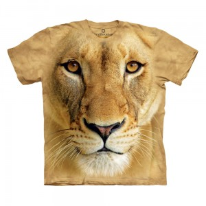 Big Face Lioness - Big Cats - T-shirt The Mountain OL