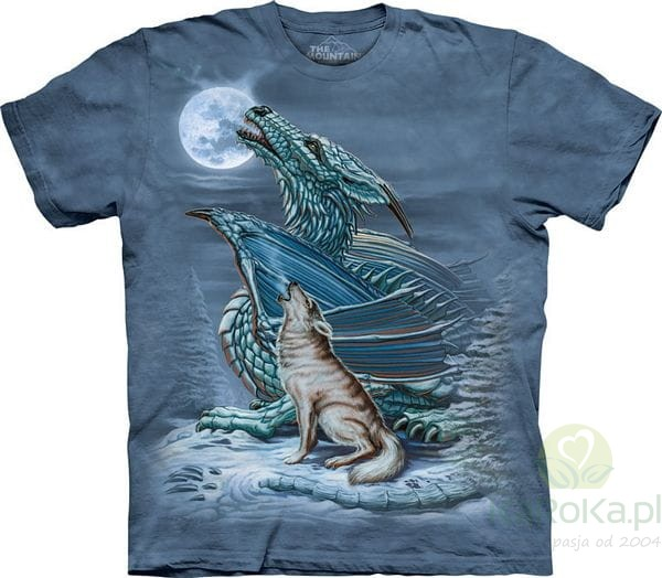 Dragon wolf moon koszulka z nadrukiem the mountain smoki - The moon dragon the eco tiny house ...