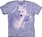 Graceful White Wolves - wilki - koszulka unisex The Mountain