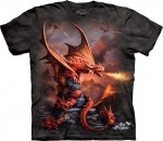 Fire Dragon - smok - Anne Stokes - koszulka unisex The Mountain