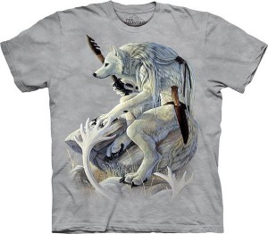 White Wolf Spirit - wilkołak -koszulka unisex The Mountain