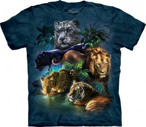 Big Cats Jungle - dzikie koty - T-shirt The Mountain