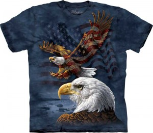 Eagle Flag Collage - T-shirt The Mountain