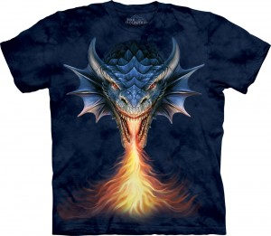 Fire Breather - smok - Anne Stokes - koszulka unisex The Mountain