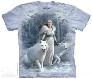 Winter Guardians - wilki - Anne Stokes - koszulka unisex The Mountain