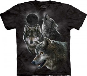 Eclipse Wolves - wilki - koszulka unisex The Mountain