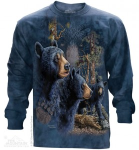 Find 13 Black Bears - misie - T-shirt z długim rękawem The Mountain
