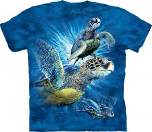 Find 9 Sea Turtles - żółwie - T-shirt The Mountain