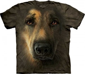 German Shepherd Portrait - pies - koszulka unisex The Mountain