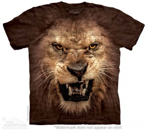Big Face Roaring Lion - lew - koszulka unisex The Mountain