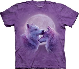 Loving Wolves -wilki -  koszulka unisex The Mountain