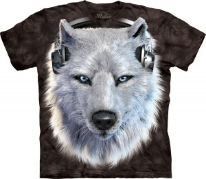 White Wolf DJ Special Edition Black - koszulka unisex The Mountain
