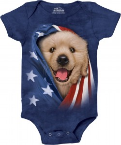 Patriotic Golden Pup - body niemowlęce the Mountain