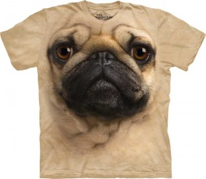 Pug Face - pies - koszulka unisex The Mountain