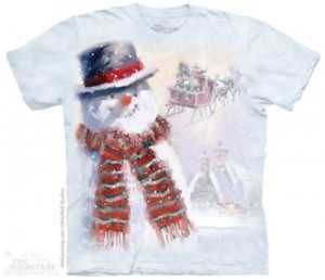 Happy Snowman - koszulka unisex The Mountain