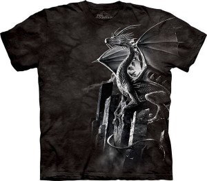 Silver Dragon - smok - koszulka unisex The Mountain
