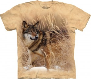 Winter Wolf Portrait - wilk - koszulka unisex The Mountain