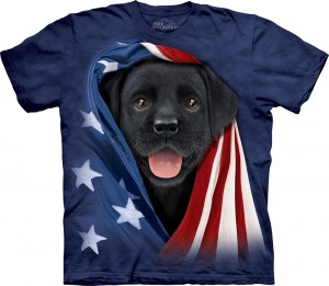 Patriotic Black Lab Pup - koszulka The Mountain