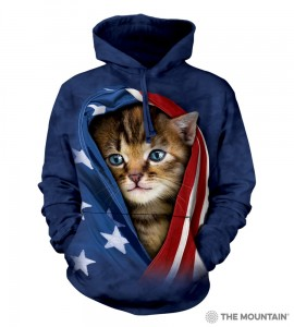 Patriotic Kitten - kot - bluza z kapturem The Mountain