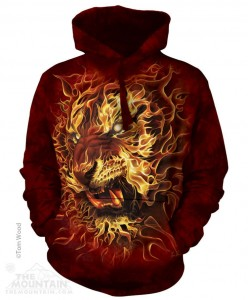 Fire Tiger - Bluza z kapturem The Mountain