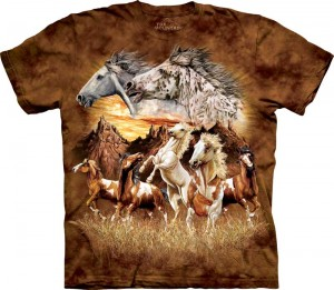 Find 15 Horses - konie - T-shirt The Mountain