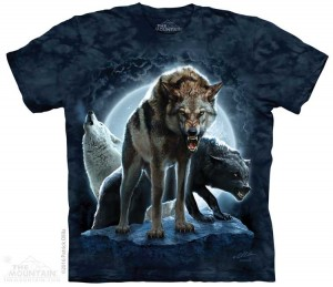Bad Moon Wolves - wilki - koszulka unisex The Mountain
