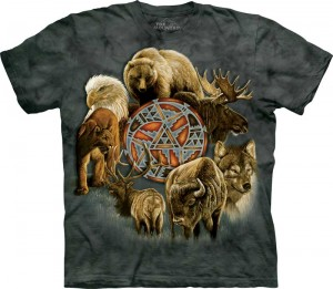Animal Spirit Circle - krąg zwierząt - T-shirt The Mountain
