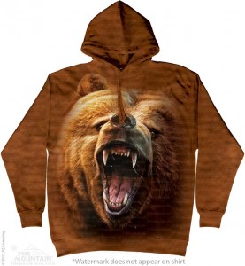 Grizzly Growl - niedźwiedź - bluza z kapturem The Mountain