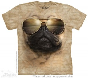 Aviator Pug - koszulka The Mountain