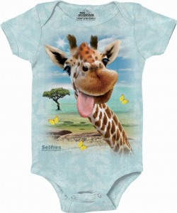 Giraffe Selfie - body niemowlęce the Mountain