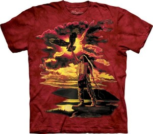 Gift of the Eagle Feather - Indianin - koszulka unisex The Mountain