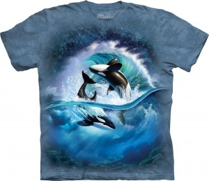 Orca Wave - orki - koszulka unisex The Mountain