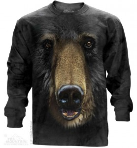 Black Bear Face - T-shirt z długim rękawem The Mountain