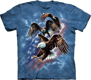 Patriotic Eagle Collage - T-shirt The Mountain