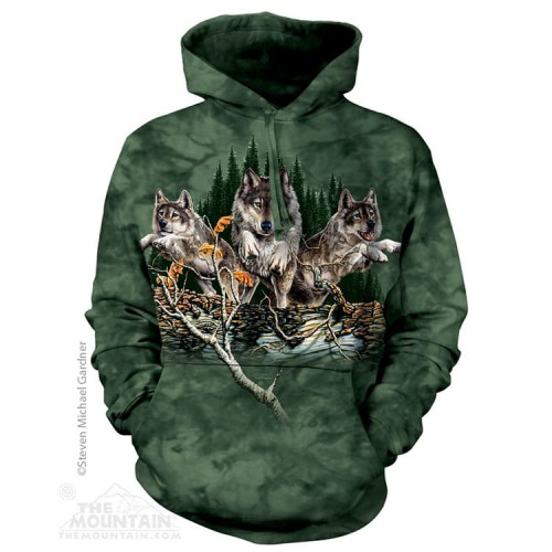 Find 12 Wolves - Bluza z kapturem The Mountain