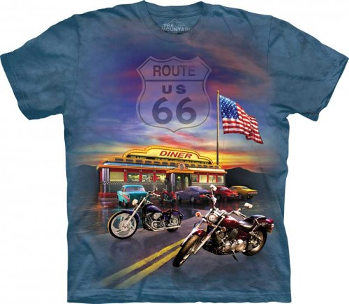 Route 66 - T-shirt The Mountain dla motocyklisty