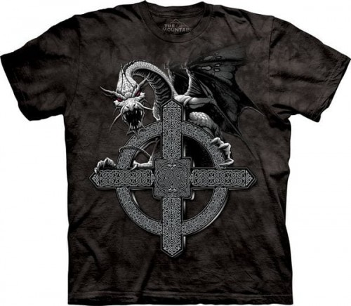 Celtic Cross Dragon - koszulka The Mountain ze smokiem