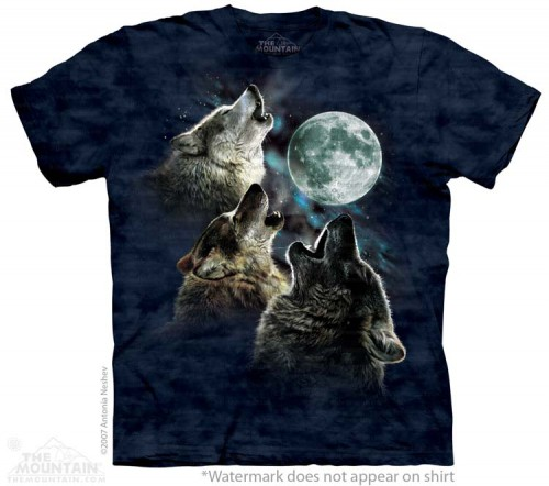 Three Wolf in Blue - koszulka The Mountain